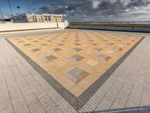 Mussel Tank, Lytham - Hardscape paving layout to BCA Landscape design
