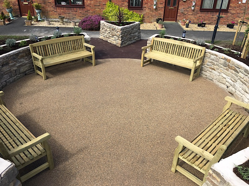 Seating area on Resibond surfacing
