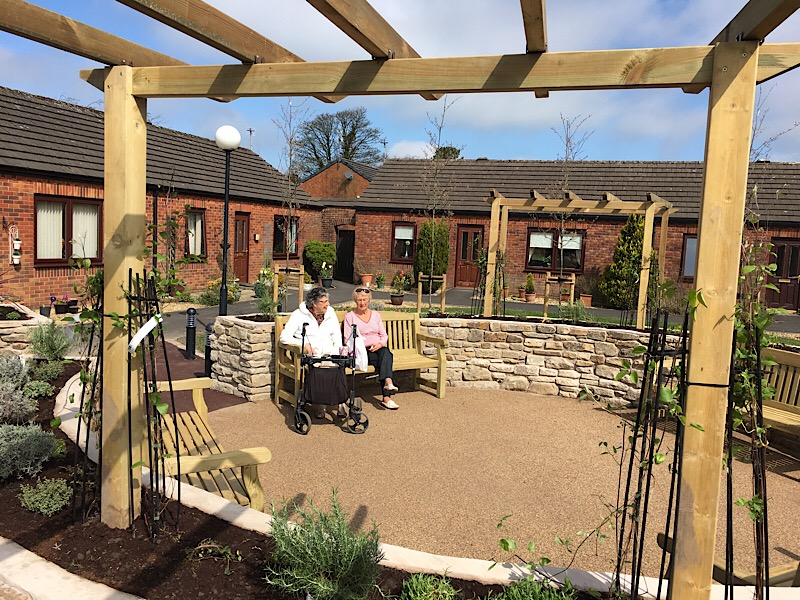 Showley Court - Residents enjoying the sun