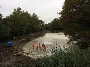 Concrete pond liner